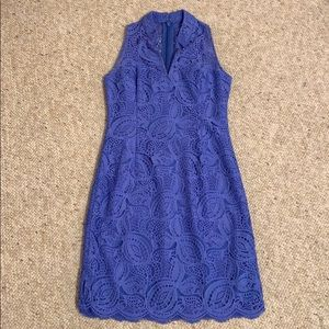 NWOT Lilly Pulitzer Blue Lace Shift Dress